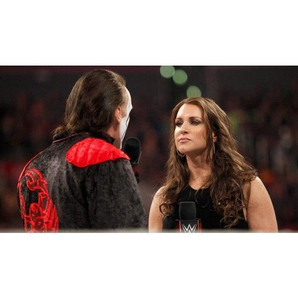 WWE's Stephanie McMahon discusses WrestleMania, Connor Michalek ❤ liked on Polyvore featuring wwe