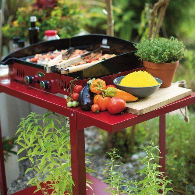 Les 1380 meilleures images propos de terrasse et balcon for Chariot cuisine exterieure