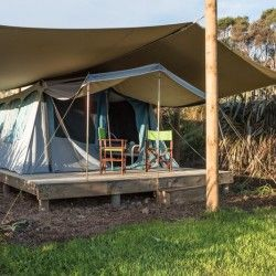 Glamping tent at Russell - Orongo Bay Holiday Park