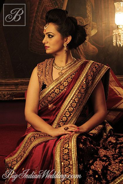 Designer Umang Hutheesing Pure Silk with Gold embroidery and Gold work luxury bridal Saree collection 2013-2014. Inspired by Royal Mughal Durbar.