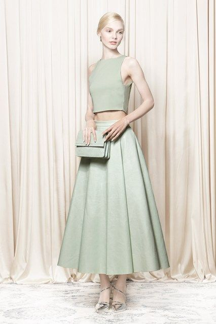 Alice + Olivia Spring/Summer 2014 Ready-To-Wear gorgeous mint outfit...x