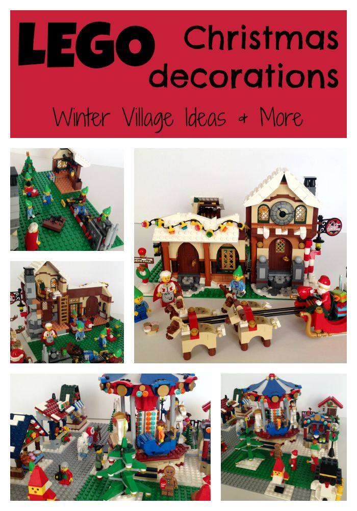 Setting up a winter village for Christmas is fun! Why not include #LEGO Christmas decorations too? My post has tips for setting up a LEGO Christmas village.