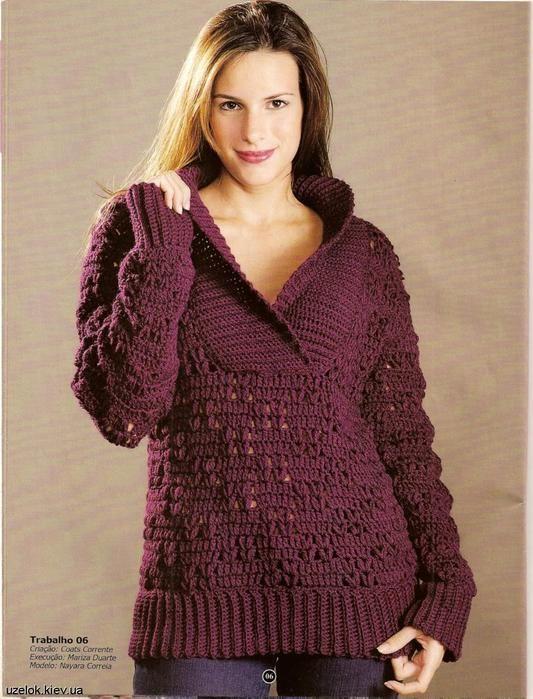 Crochet sweater: chart and pattern
