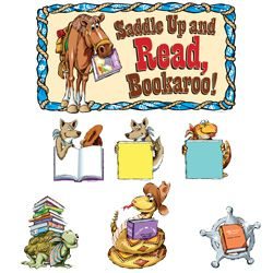 western bulletin board sets | Saddle Up And Read Bulletin Board Set from TeachersParadise.com ...