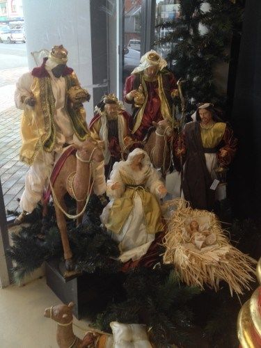An enormous Nativity scene ---- We have my Mom's ~~~~ it's BEAUTIFUL & WHAT CHRISTMAS IS ALL ABOUT!!!!!!!!!