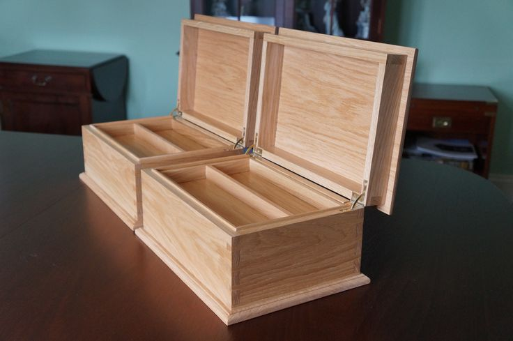 Oak Sewing Boxes by Phil Collins Fine Furniture