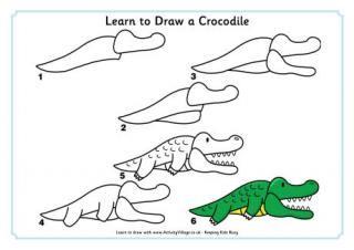 Dessin Simple Crocodile