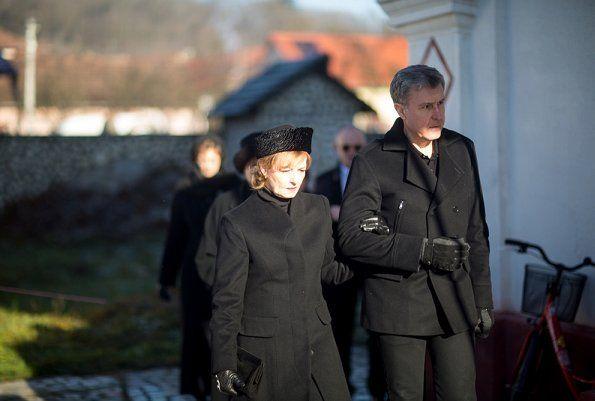 Romanian Royal Family attend Christmas Service at Săvârşin