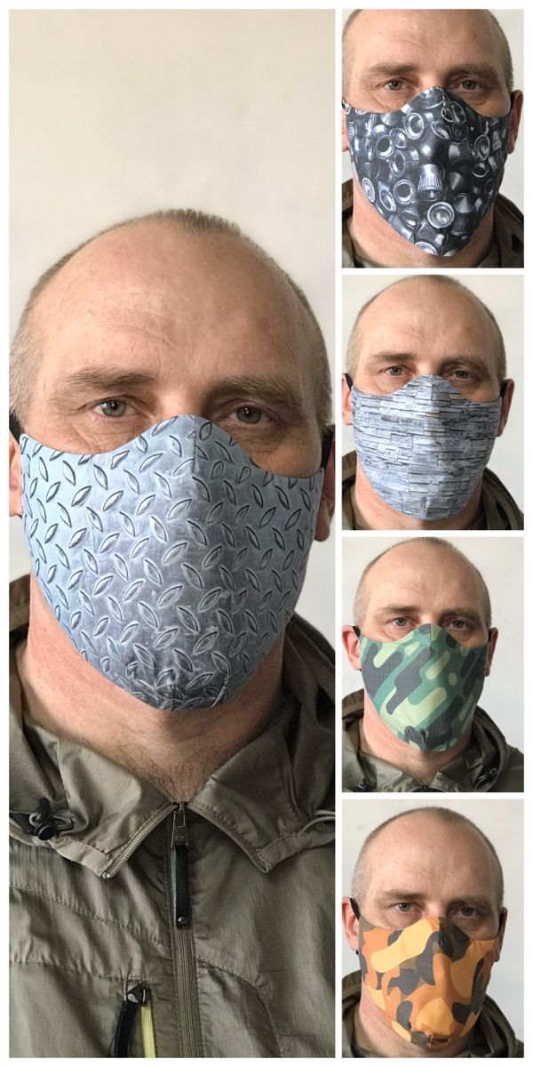 Diy mask for face Pattern for face mask PDF format Маски