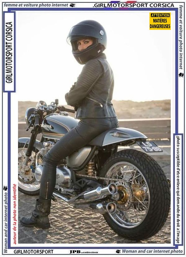Le Bo Casque Girlmotorsport Moto Cafe Racer Girl Ducati Cafe