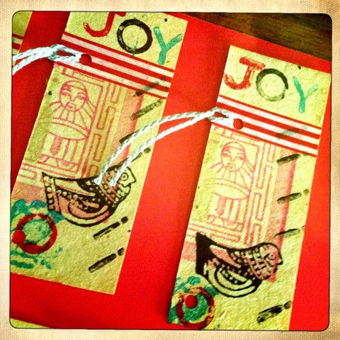 joy with birds gift tags