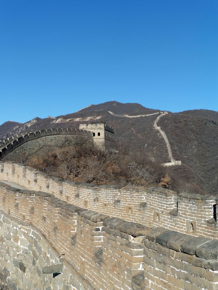 The Great Wall of China. Beautiful, sunny day in January. Relaxing atmosphere with almost no tourists.