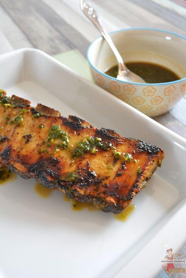 Des ribs avec une marinade sucrée salée et relevée à l'ail des ours cuits à la plancha ! - Travers de porc marinés à l'ail des ours - Lolibox - Recettes de cuisine