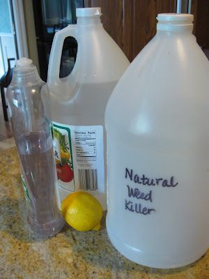 homemade earth friendly weed killer / might come in handy this summer...