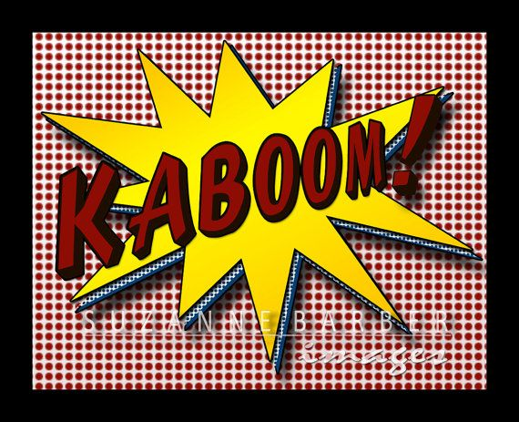 Pop Art Print  Kaboom in the comic strip style por TheBarberShoppe