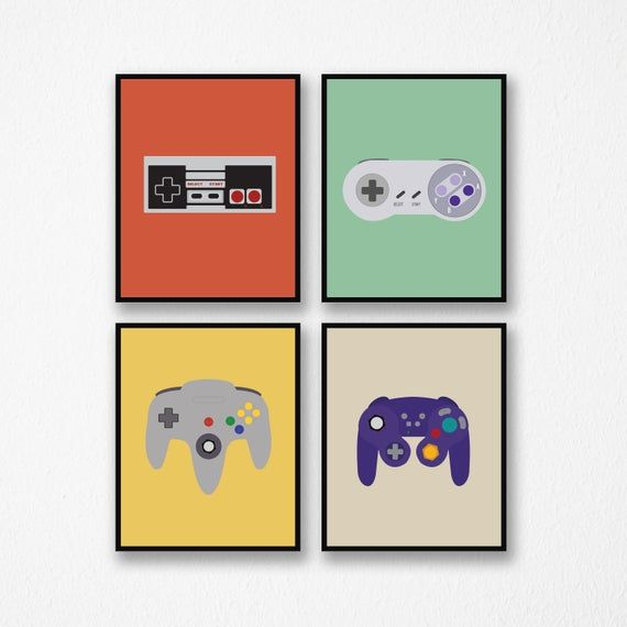 Video Game Decor Game Controllers Video Game Art Retro Etsy Video Game Decor Retro Gaming Art Video Game Wall Art