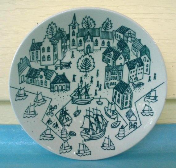 vintage Danish modern plate