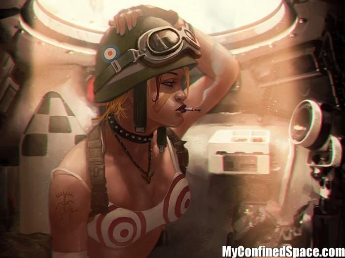 Tank Girl in her tank Wallpaper Tank Girl Comic Books