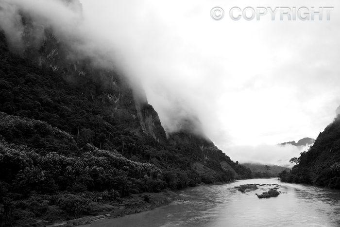 Misty Mountain - Nam Ou River, Nong Khiaw