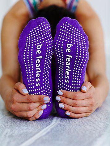 'be fearless' grippy socks http://rstyle.me/n/i84kmnyg6