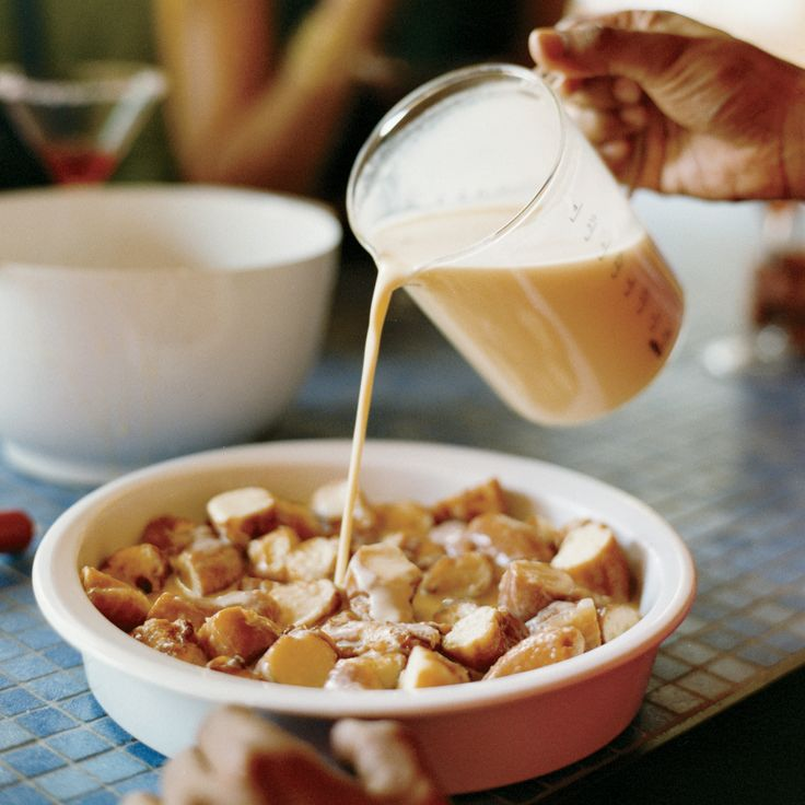 For his decadent Krispy Kreme Bread Pudding, Govind Armstrong submerges the doughnuts in custard before baking then serves them with espresso whipped cream.
