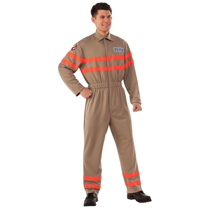 Adult Ghostbusters Movie Kevin Deluxe Jumpsuit Costume, Size: standard, Multicolor