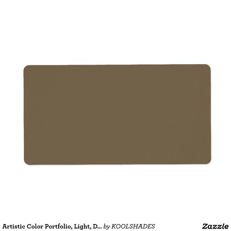 Artistic Color Portfolio, Light, Dark n Crystals Label