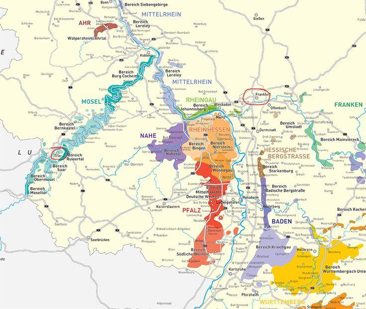 Best Maps Of Wine Regions Images On Pinterest Beer Wine - Germany vineyards map