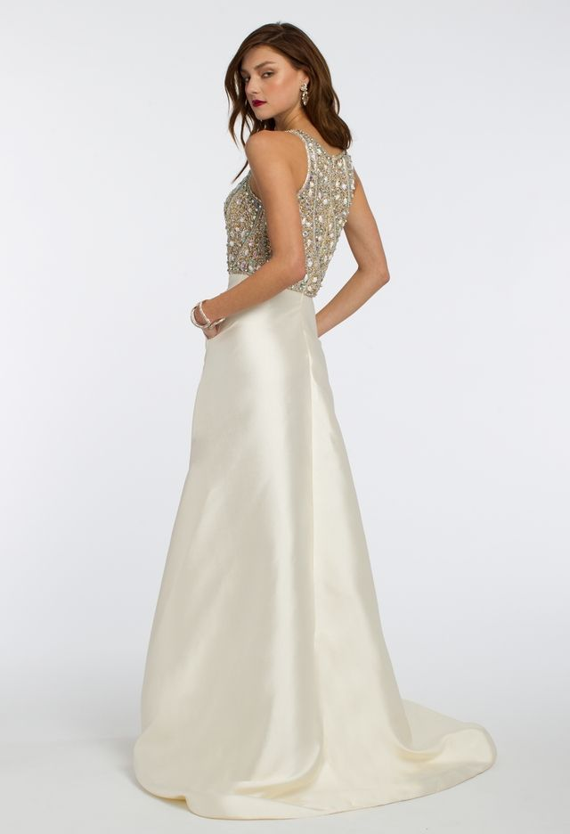 Beaded Mikado Ballgown Dress from Camille La Vie and Group USA