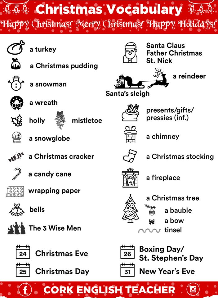 CHRISTMAS vocabulary #learnenglish