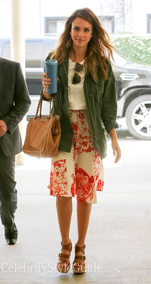 Jessica Alba in our Monrovia jacket