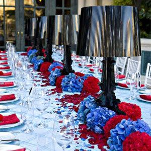 Very Americana for a military couple!
