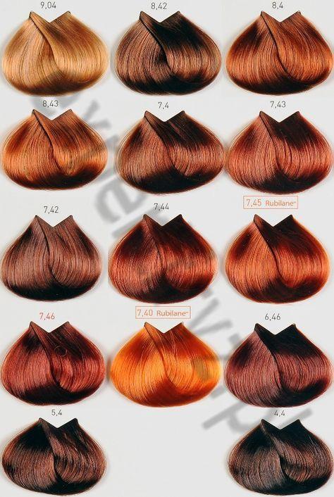 Carta de colores miel para el cabello
