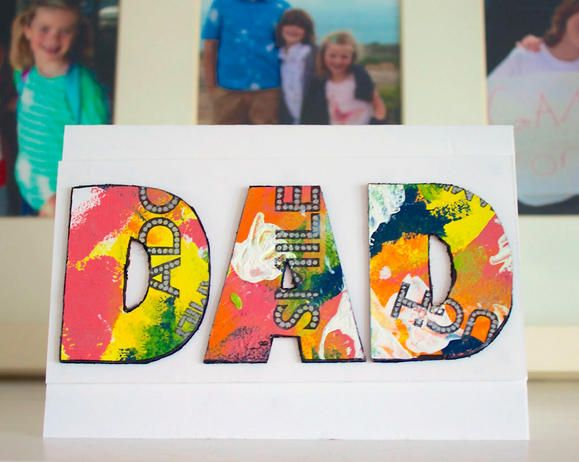 Mixed media card for Father's Day www2.fiskars.com