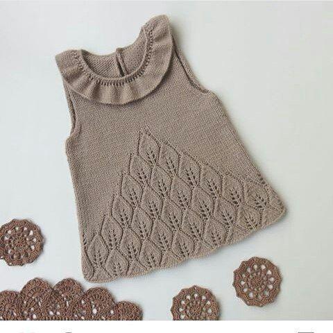 ärmellose-gestrickte-Yakasi-Rüschen-Kinderbluse   – вяжем детишкам-2/knit kids-2