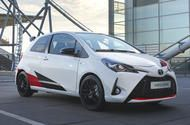Supercharged Toyota Yaris GRMN full specs confirmed Gazoo Racing's high-performance Yaris is powered by a 1.8-litre supercharged engine developing 209bhp  The Toyota Yaris GRMN hot hatchproduces a peak of 209bhp at 6800rpm the brand's performance arm Gazoo Racing has confirmed in Frankfurt.  Powered by a 1.8-litre supercharged engine the Yaris outpunches rivals such as the 197bhpFord Fiesta ST200and 205bhp Peugeot 208 GTi.  The car's highly strung four-pot also makes a peak of 184lb ft…