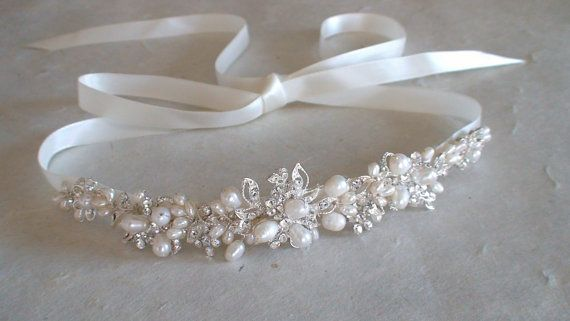 Bridal headband. Bridal head piece. Bridal hair by ShesAccessories, $74.95