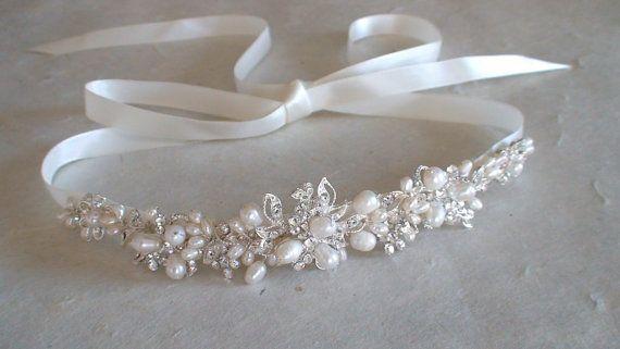 Wedding headband. Bridal head piece. Wedding by ShesAccessories