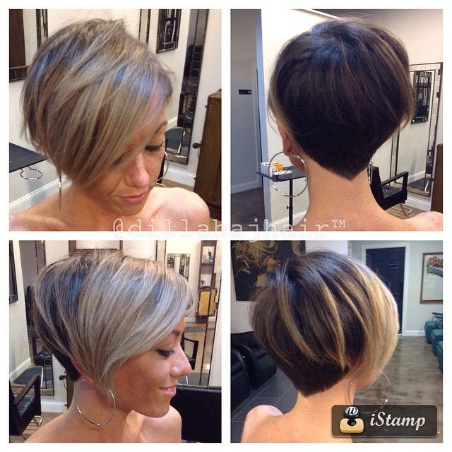 """""""The ever evolving @julia_foronda changin up her cut and color yet again! Much blonder, and growing back into her now famous bob! Thanks friend #hair…"""""""