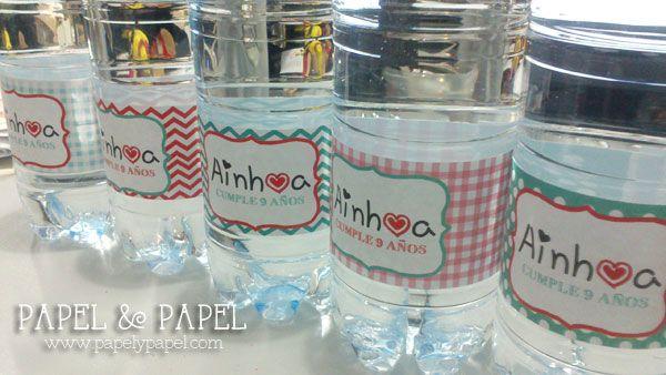 etiquetas para personalizar las botellas de agua..