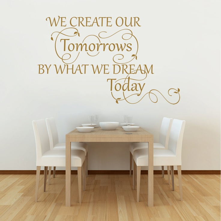 We Create Our Tomorrows - Wall Decal Quote Sticker lounge living room kitchen dining bedroom 2. $24.00, via Etsy.
