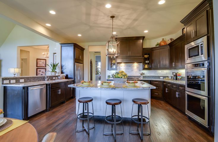 Drees Custom Homes The Marley Model Home Kitchen Love These Cabinets But Do I Love Them To Pay Even More Building Our House Pinterest Them Mode