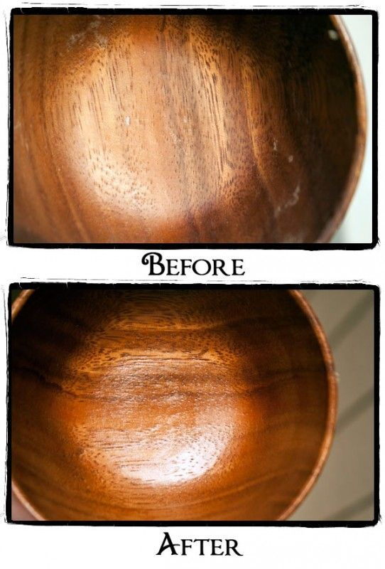 DIY wood polish:      2 Tbsp finely grated beeswax or beeswax beads     6-8 Tbsp extra virgin olive oil (6 if you want a firmer polish, 8 if you want your polish to be a little squishier)     A small glass container     A pot with about 2 inches of water in it     A spoon