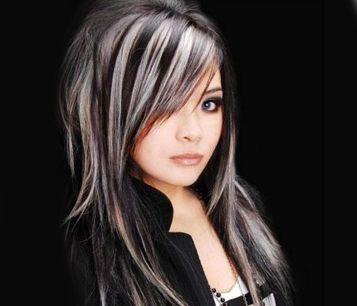 Cheveux longs degrades effiles