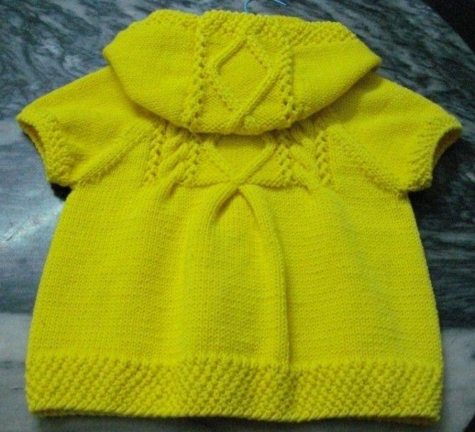 黄色小外套,有折裥的织法哦~~ - 楚天 - 海阔天空