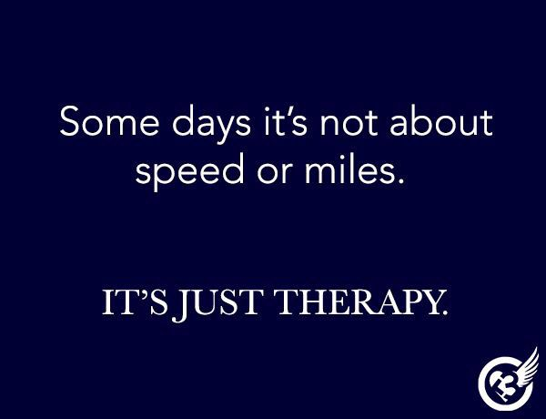 Sometimes it's just therapy