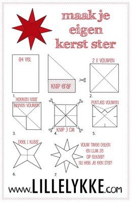 Christmas stars - DIY tutorial by Lille Lykke