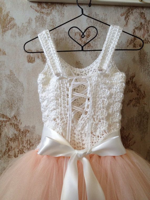 Blush flower girl tutu dress tutu dress flower girl dress by Qt2t