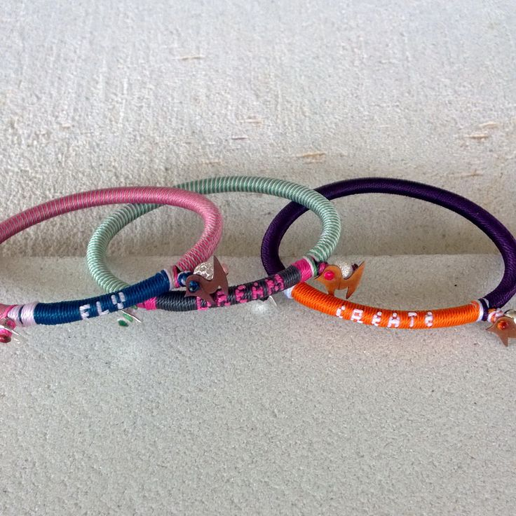 """Winter 2014 Knitted Slogan Collection Lucky Bird """"fly-dream-create"""" bracelets. A set of three in unbeatable price"""
