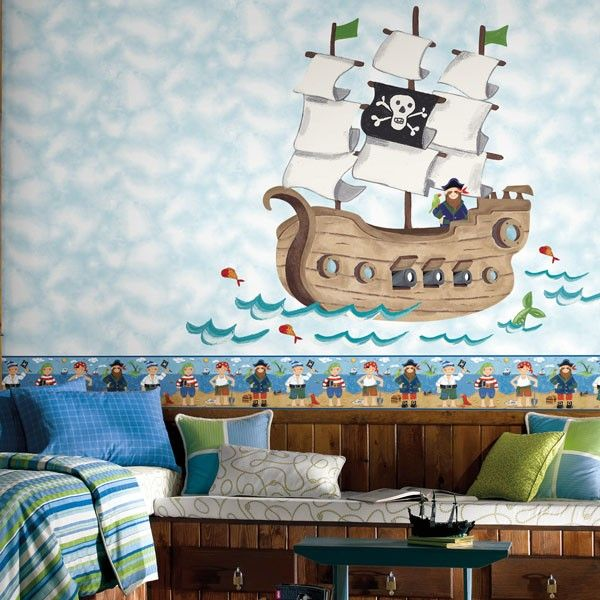giant pirate ship wall sticker boys giant wall stickers becky lolo
